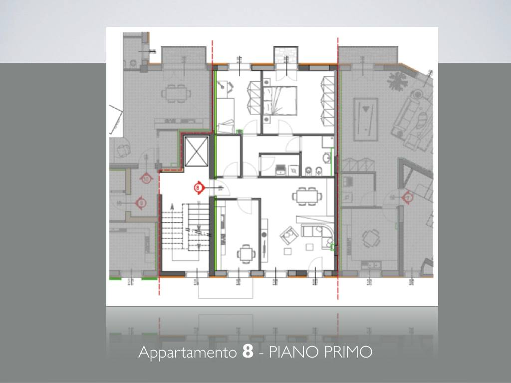 LUNGARNI, PISA, Apartment for sale of 90 Sq. mt., New construction, Heating Centralized, Energetic class: A, Epi: 1 kwh/m2 year, placed at 1° on 4,