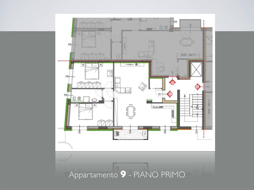 LUNGARNI, PISA, Apartment for sale of 90 Sq. mt., New construction, Heating Centralized, Energetic class: A, placed at 1° on 4, composed by: 4 Rooms,