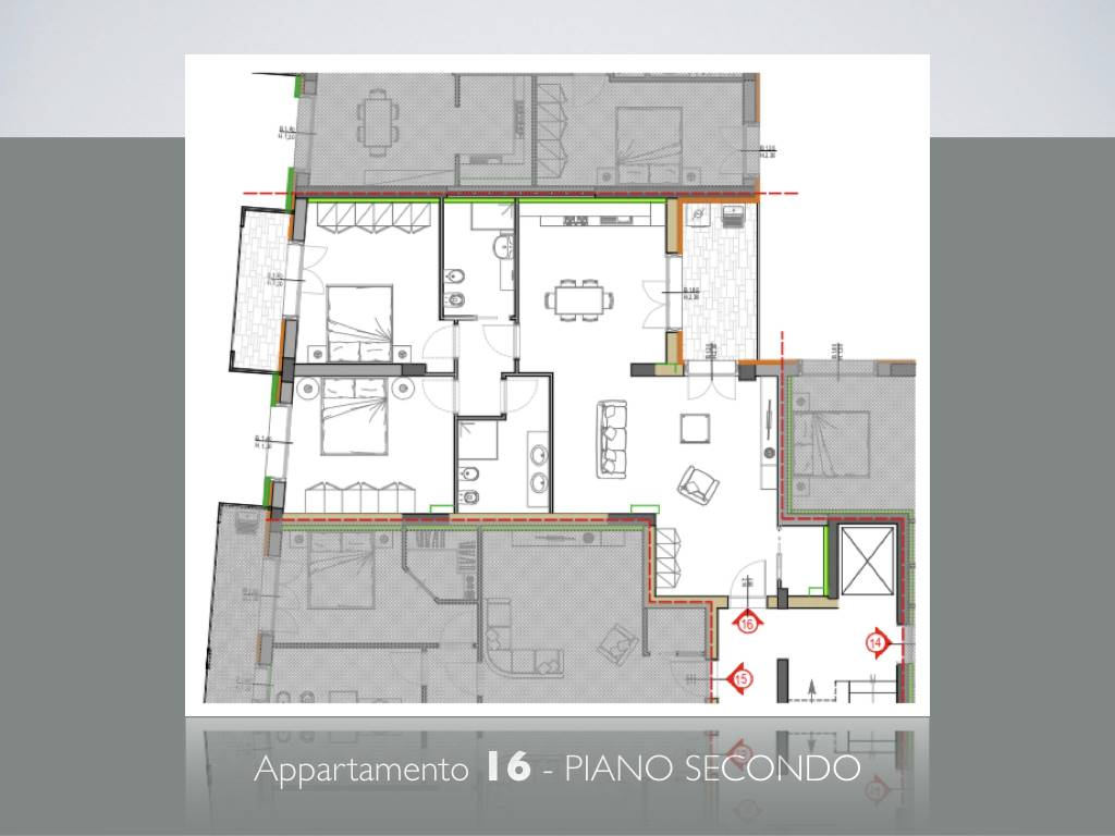 LUNGARNI, PISA, Apartment for sale of 103 Sq. mt., New construction, Heating Centralized, Energetic class: A, placed at 2° on 4, composed by: 4 Rooms,