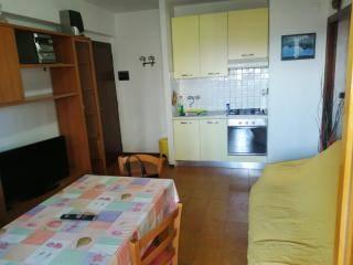 ZONA LANDI: Appartamentoin contesto condominiale dotato di ascensore, posto al piano quinto, composto da ingresso in soggiorno con angolo cottura,