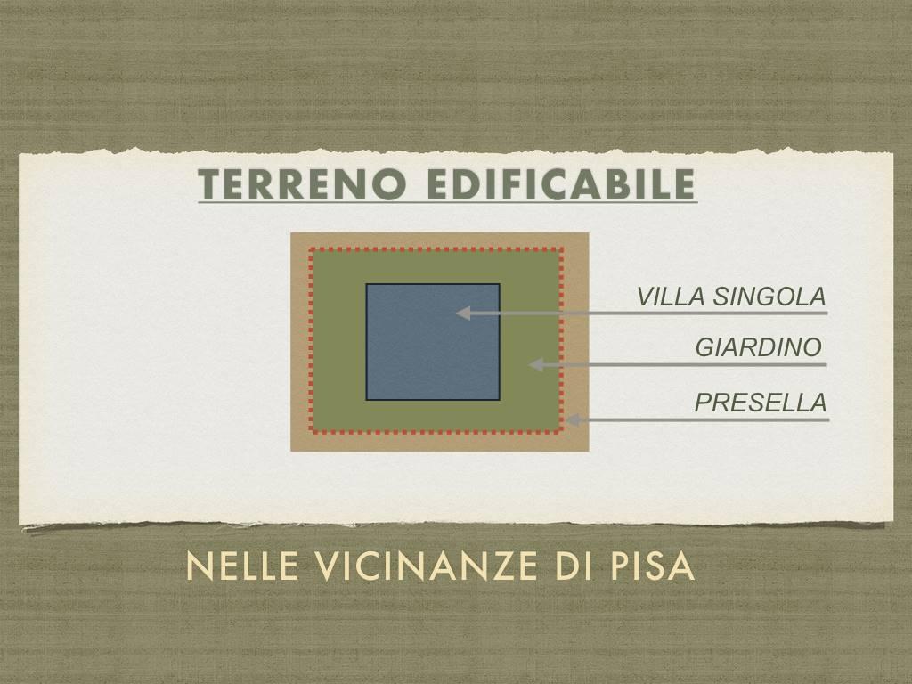 Splendida zona residenziale a pochi passi dal centro di Pisa. Terreno edificabile per VILA SINGOLA. di circa 150 mq. REALIZZATE I VOSTRI SOGNI E