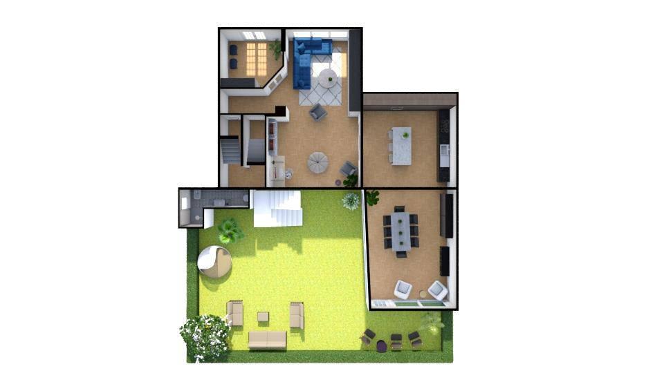 RIFERIMENTO 3105FC - Pisa Oratoio Terra tetto con ampio giardino sul retro composto al piano terra da garage, soggiorno con camino, bagno, giardino,