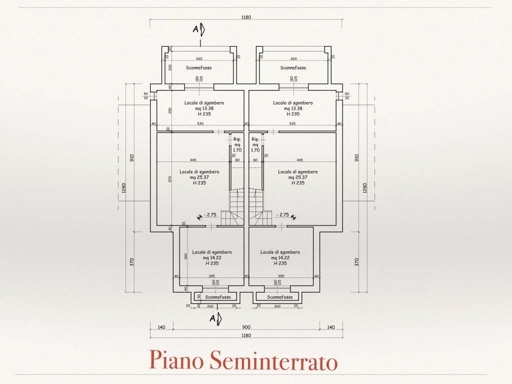 RIFERIMENTO 1309FC - SAN GIULIANO TERME, Terreno edificabile per la realizzazione di un edificio bifamiliare, composte da piano interrato co lo cali