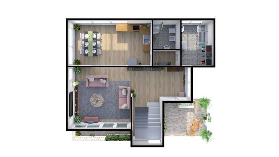 In zona residenziale e commerciale proponiamo questa unità immobiliare indipendente sviluppata su due livelli oltre ad un grande giardino. La sua