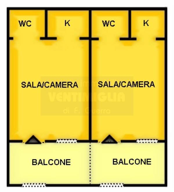 Appartamento in vendita a Ventimiglia, 2 locali, prezzo € 159.000 | CambioCasa.it