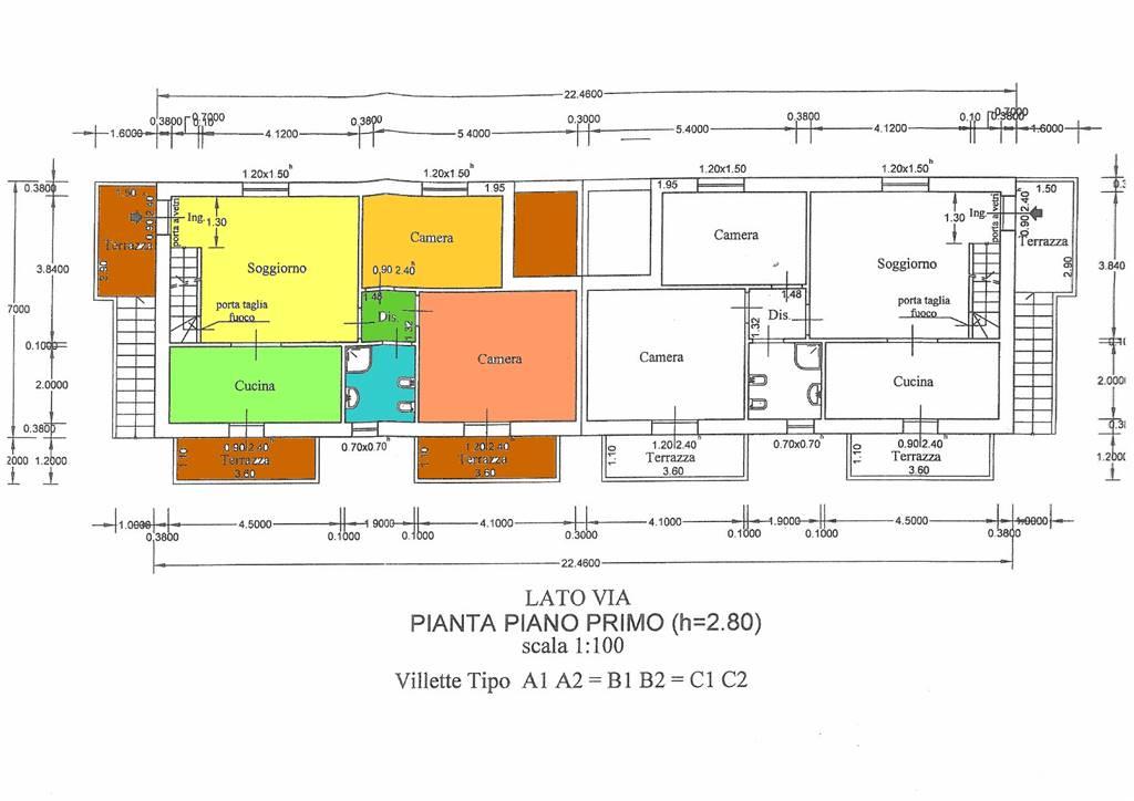 Vendita bifamiliare indicatore campi bisenzio in nuova for Software di piano di pavimento del garage