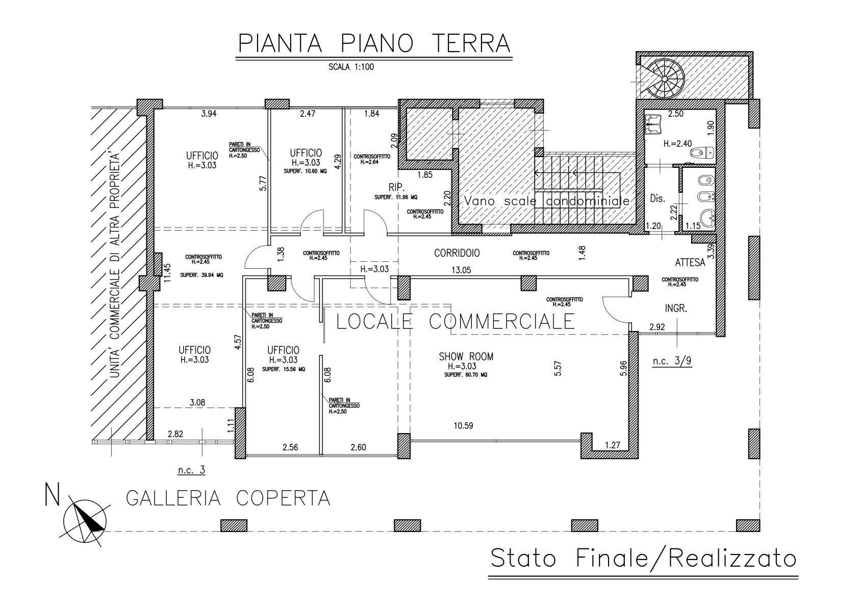 Negozio / Locale in affitto a Prato, 4 locali, zona Zona: Valentini, prezzo € 2.300   CambioCasa.it
