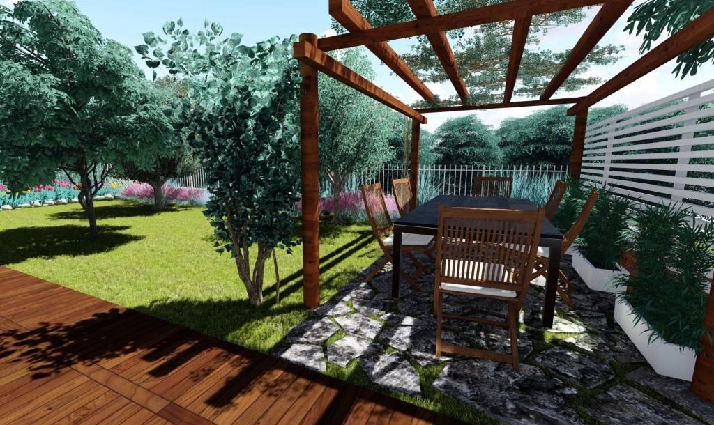 Vendita bifamiliare via enrico mattei 38 frazioni for Disegnare giardini