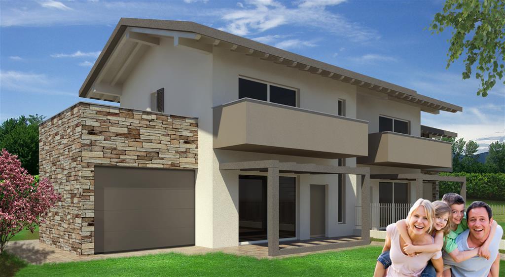 Villa bifamiliare in vendita a ghisalba bergamo rif 1528 for Piani di garage con deposito soffitta