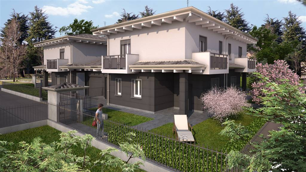 OSIO SOTTO, Terraced house for sale of 129 Sq. mt., New construction, Heating To floor, Energetic class: A4, placed at Ground on 1, composed by: 4