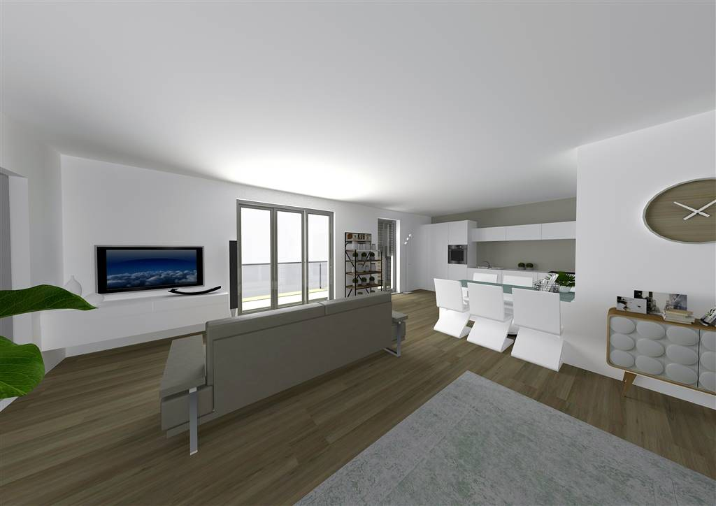 COLOGNO AL SERIO, Penthouse for sale of 142 Sq. mt., New construction, Heating Individual heating system, Energetic class: A1, placed at 1° on 2,