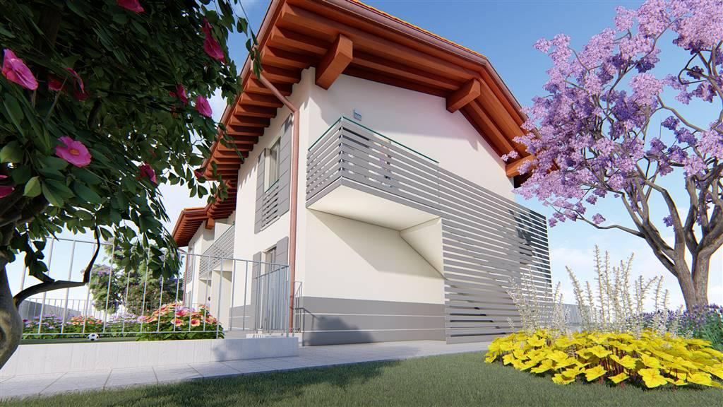 Nuova realizzazione in villa di sole 4 unità indipendenti proponiamo appartamento trilocale al piano terra composto da grande area giorno di 40 mq