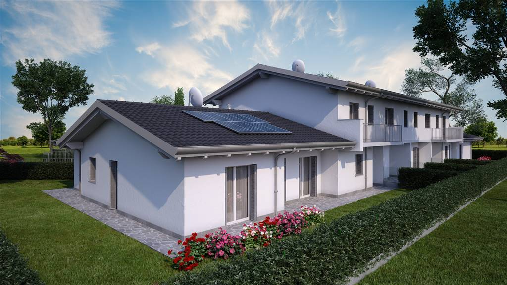 GHISALBA, Villa for sale of 175 Sq. mt., New construction, Heating To floor, Energetic class: A3, placed at Ground, composed by: 4 Rooms, Separate