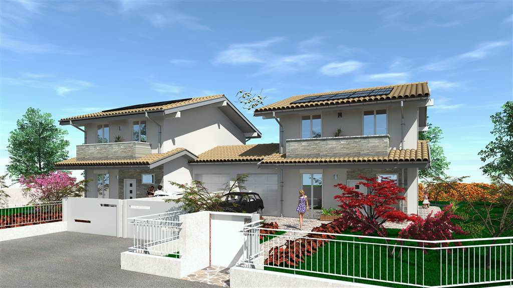 GHISALBA, Duplex villa for sale of 160 Sq. mt., New construction, Heating To floor, Energetic class: A1, placed at Ground on 1, composed by: 4 Rooms,