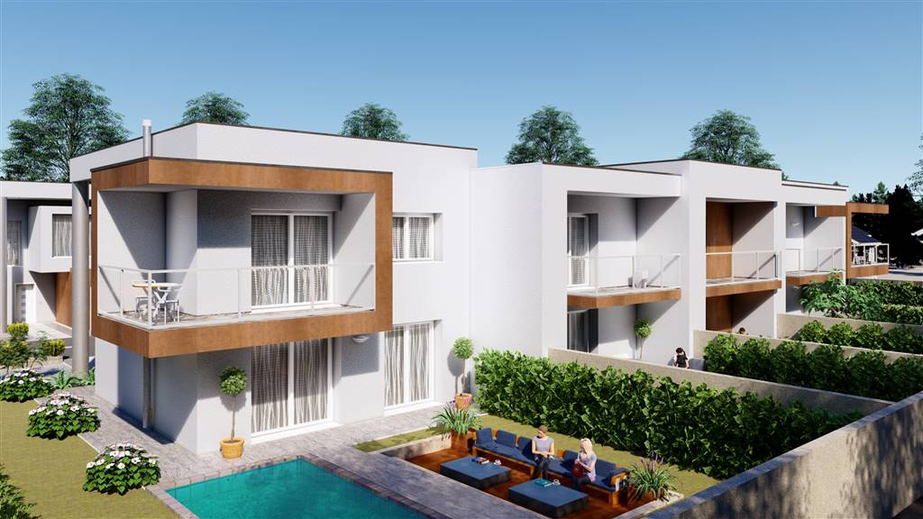 Proponiamo ad Urgnano nei pressi delle scuole e del centro sportivo, nuove ville dal design contemporaneo ed essenziale, in un bel residence di 10