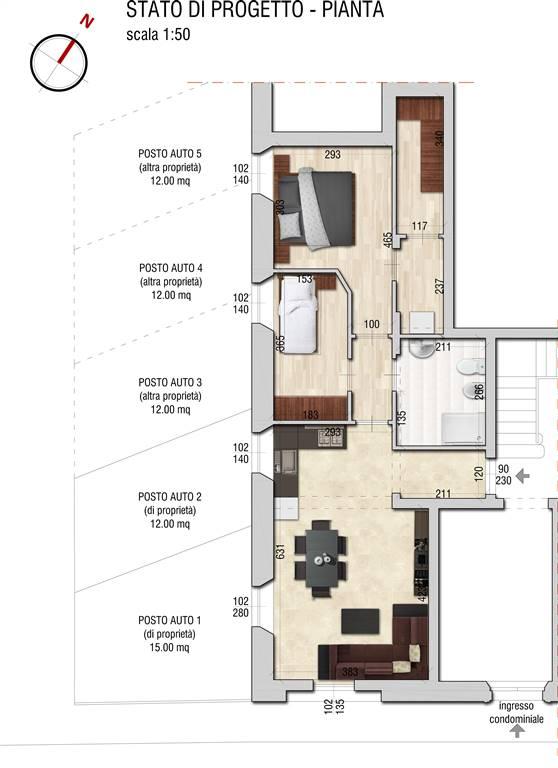 Appartamento in vendita a Firenze, 3 locali, zona Località: CURE, prezzo € 265.000 | CambioCasa.it
