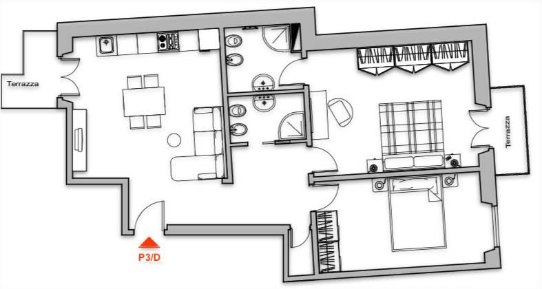 Appartamento in vendita a Firenze, 3 locali, zona Località: LUNGARNO CRISTOFORO COLOMBO, prezzo € 380.000 | CambioCasa.it