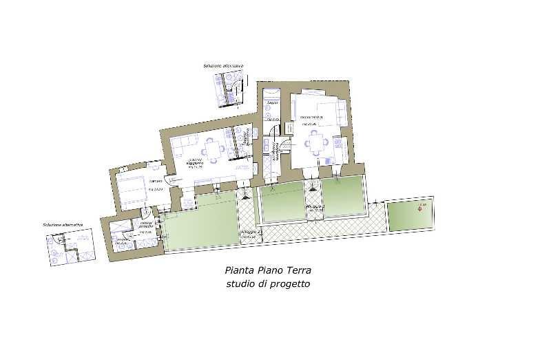 Progetto casa 100 mq un piano progetti di case con for Prezzi del garage a due piani