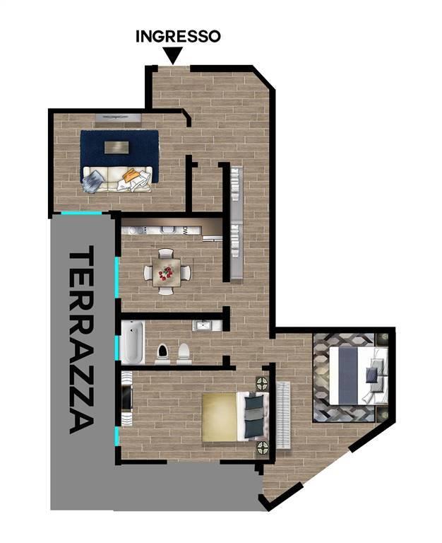 Appartamento in vendita a Arcola, 4 locali, zona to Magra, prezzo € 159.000 | PortaleAgenzieImmobiliari.it