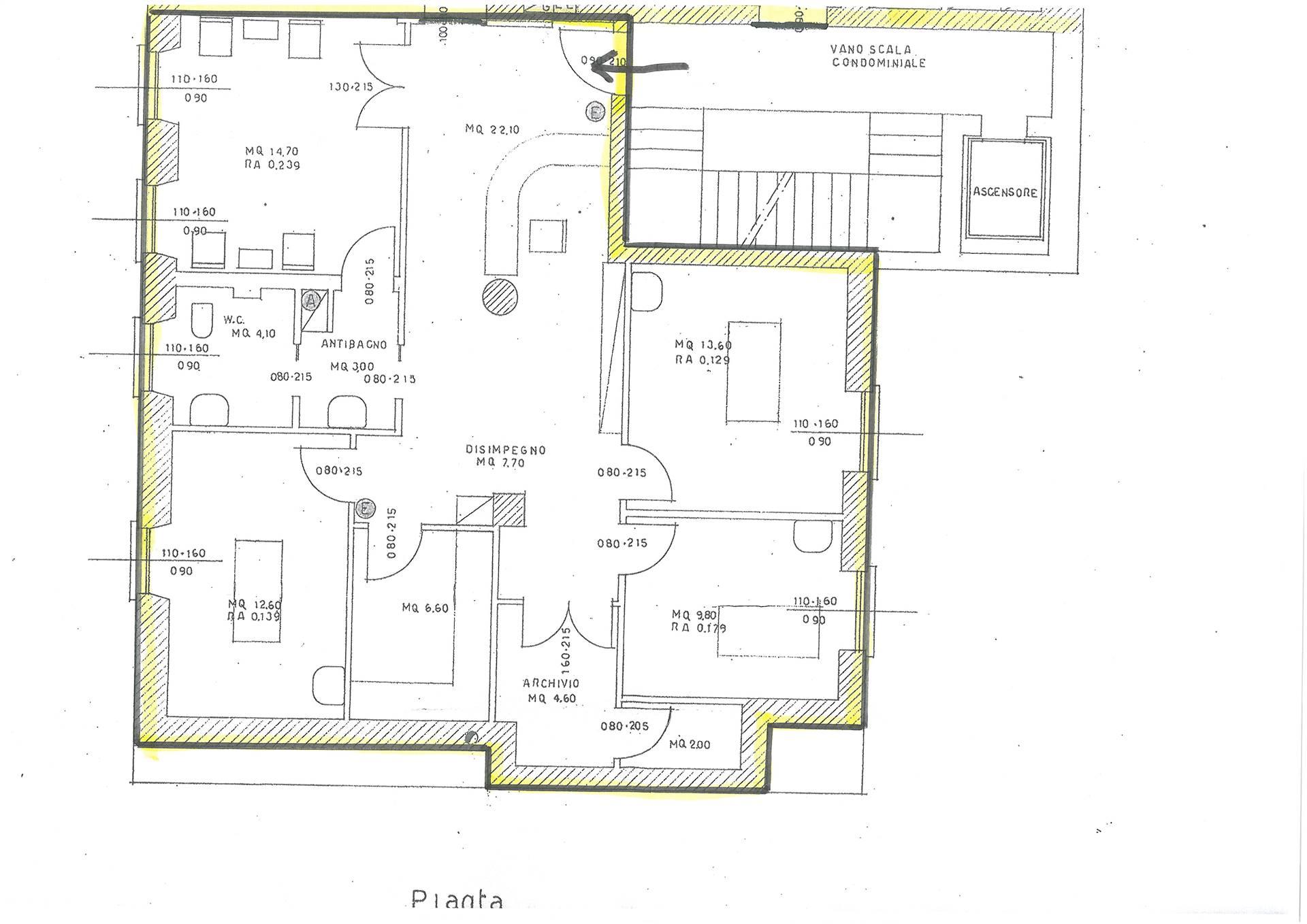 Ufficio / Studio in affitto a Brescia, 4 locali, zona ro storico pregiato, prezzo € 1.200   PortaleAgenzieImmobiliari.it