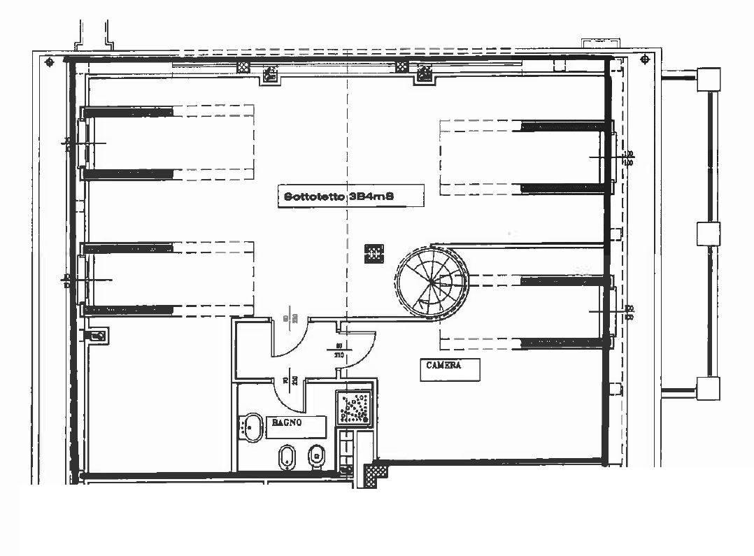 Planimetria piano mansarda