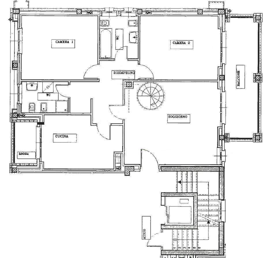 Planimetria piano 3°