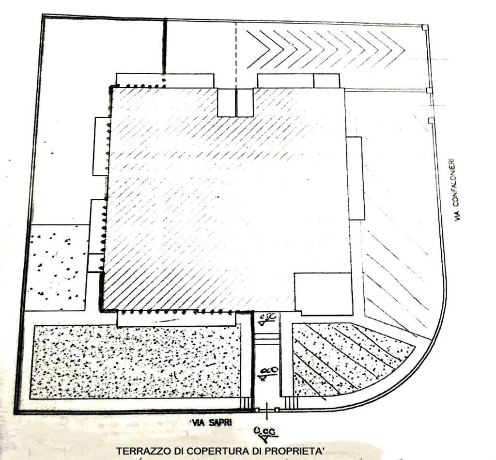 planimetria terrazzo sovrastante