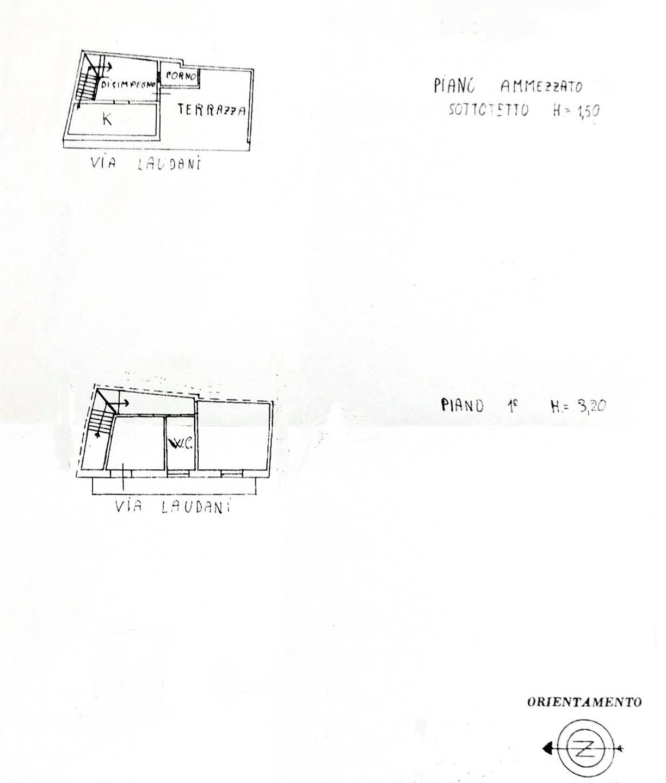 planimetria piano primo e secondo