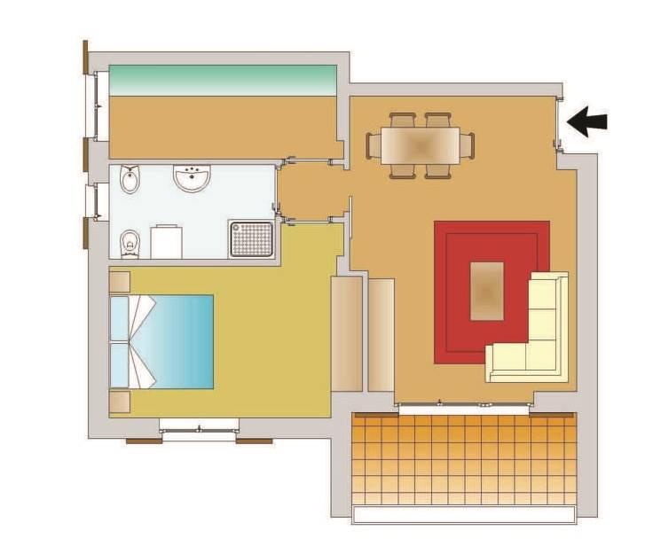 Appartamento in vendita a Ossago Lodigiano, 2 locali, prezzo € 93.000   CambioCasa.it
