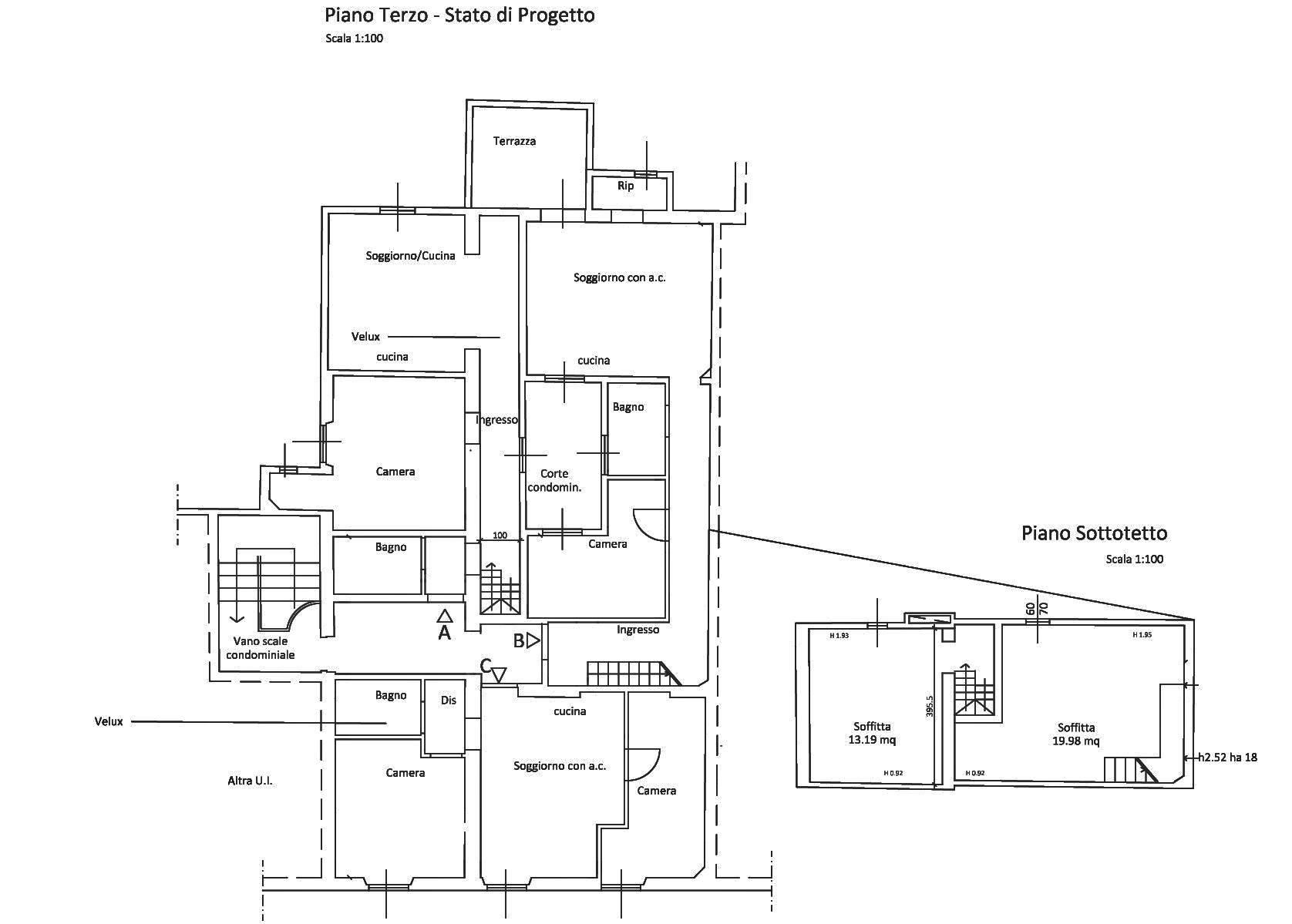 Planimetria progetto generale