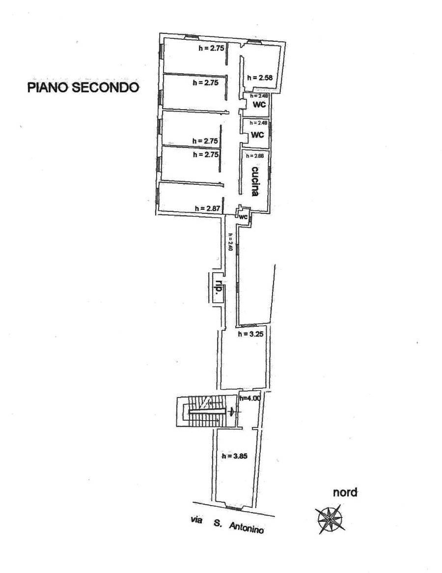 Planimetria Piano Secondo