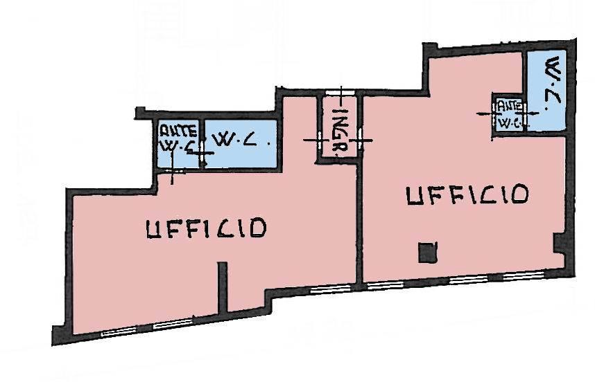 Vendesi ufficio composto da 2 locali e 2 bagni in zona industriale. Eventuale posto auto Büro mit 2 Zimmern in der Industriezone zu verkaufen. Evtl.