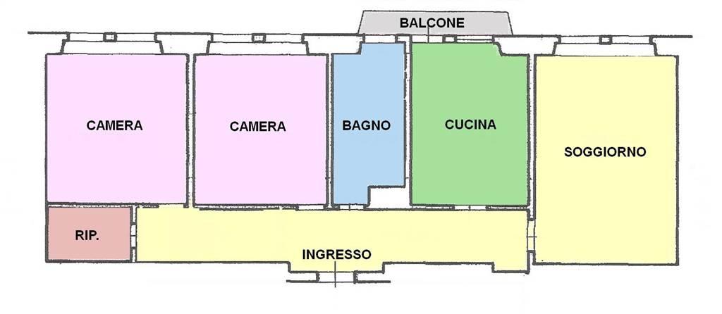 Vendesi appartamento in centro storico, piano alto con ascensore, luminoso e ben esposto, composto da ingresso, soggiorno, cucina abitabile, 2 camere
