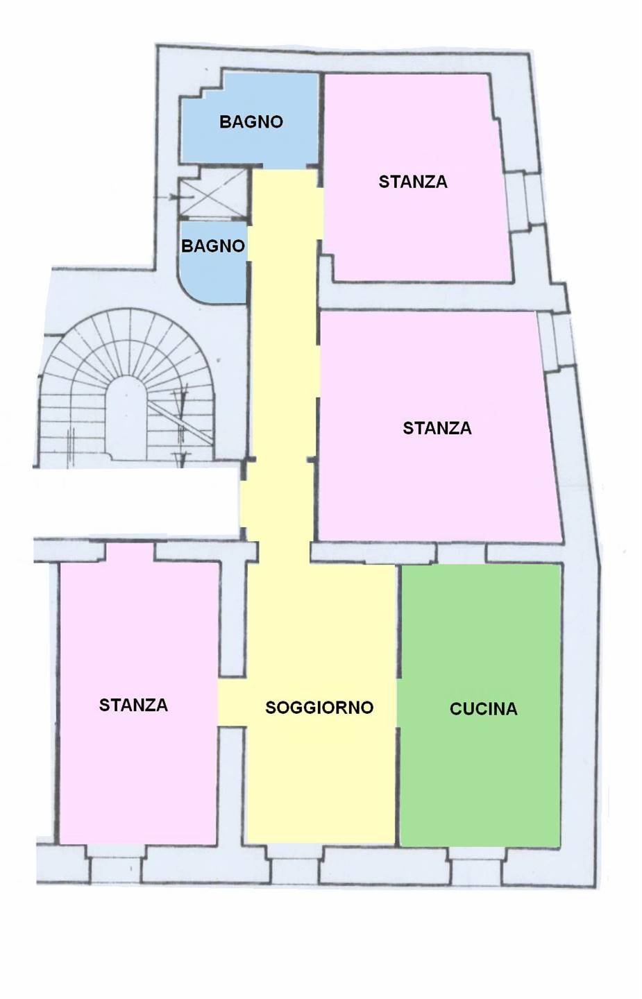 CENTRO STORICO, BOLZANO, Apartment for sale of 141 Sq. mt., Habitable, Heating Centralized, Energetic class: G, placed at 1°, composed by: 4 Rooms,