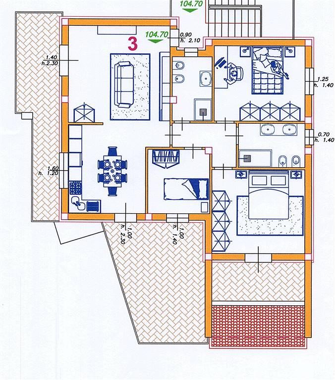Appartamento in vendita a Castelfidardo, 4 locali, prezzo € 285.000   PortaleAgenzieImmobiliari.it