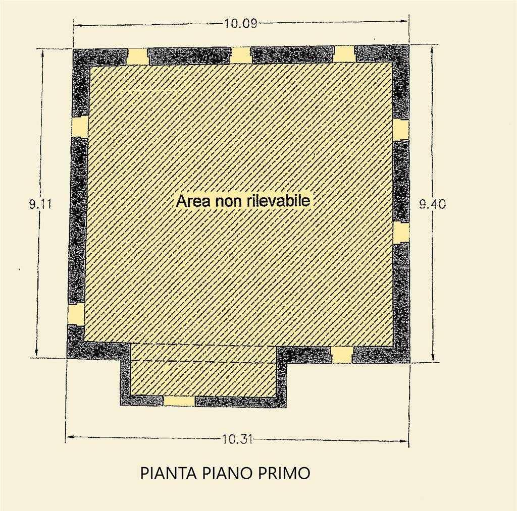 PIANTA PIANO PRIMO FABBRICATO PRINCIPALE