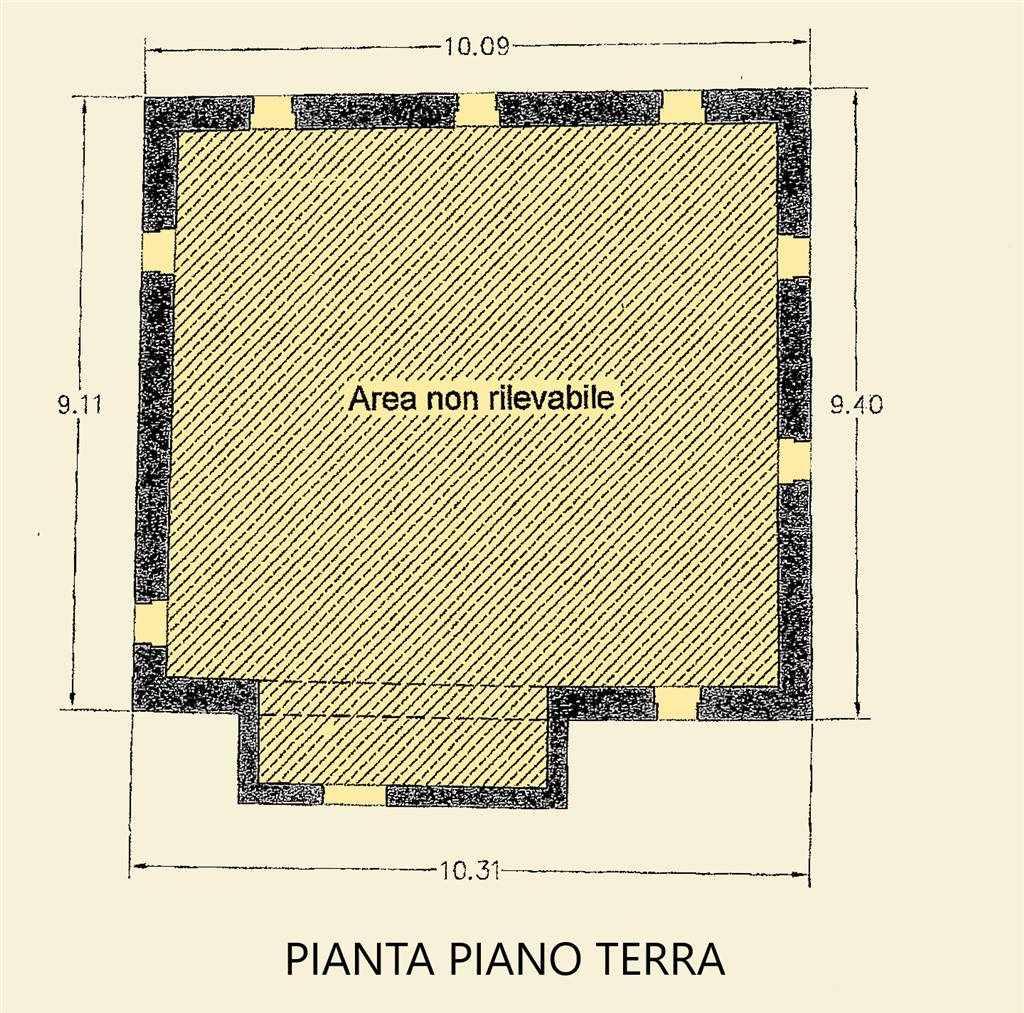 PIANTA PIANO TERRA FABBRICATO PRINCIPALE