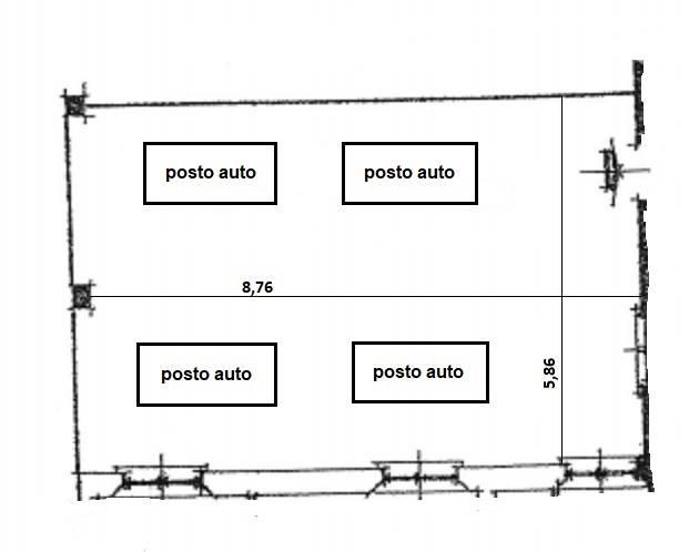 planimetria posti auto