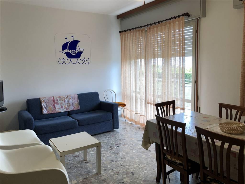 Vendiamo appartamento FRONTE MARE in zona piazza Trento sito al piano rialzato di un condominio con spiaggia privata. L'appartamento è composto da da