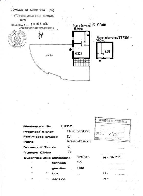 Appartamento indipendente, Moneglia