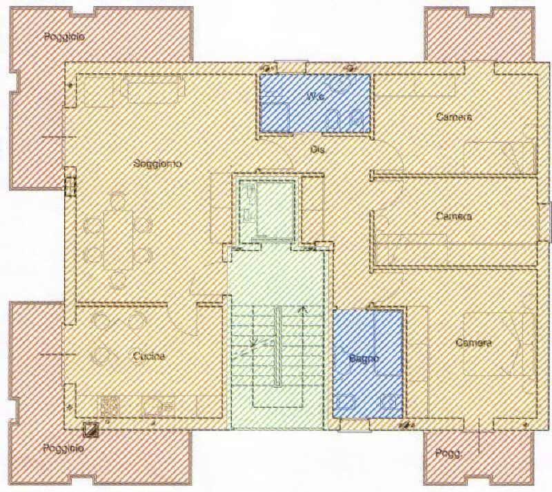 planimetria appartamento in vendita a Mestre
