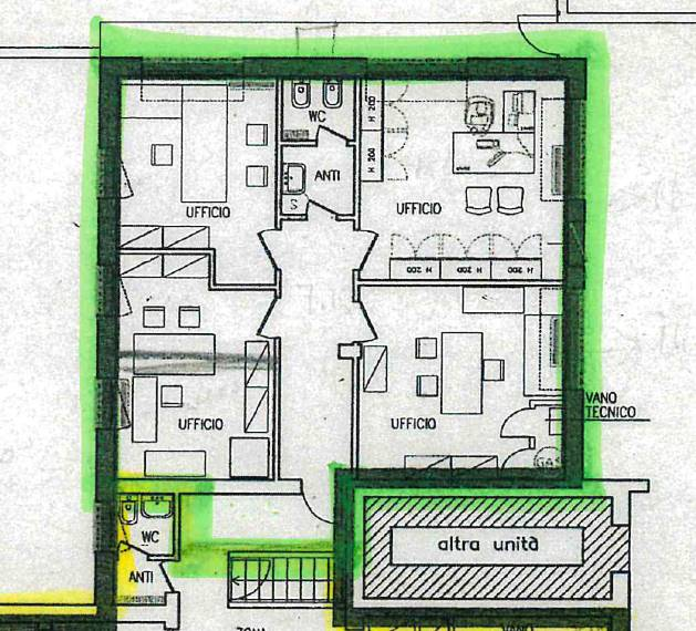 Ufficio / Studio in affitto a Martellago, 4 locali, zona Zona: Olmo, prezzo € 650 | CambioCasa.it