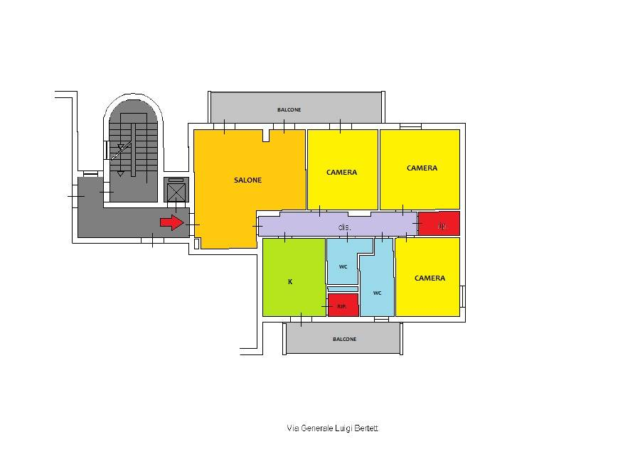 BANDITA, PALERMO, Apartment for sale of 132 Sq. mt., Habitable, Energetic class: G, Epi: 175 kwh/m2 year, placed at 1° on 6, composed by: 5 Rooms,
