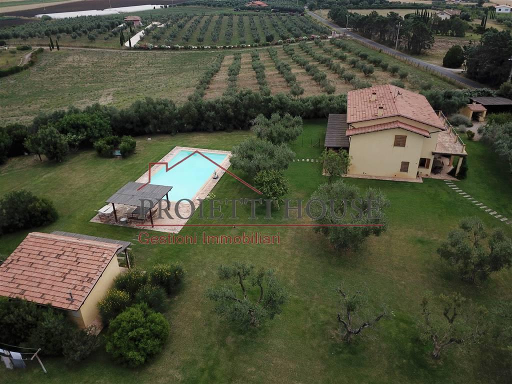 villa con piscina pescia romana vende