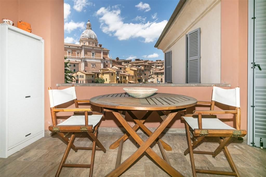 Confortevole bilocale di mq 57 con terrazza di circa mq 7 con vista meravigliosa su uno dei monumenti più suggestivi del centro storico senese.