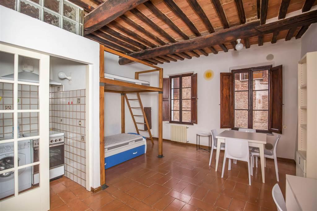 Monolocale funzionale posto al primo piano di una piccola palazzina nel centro storico di Siena. Si compone di ingresso, cucinotto con porta