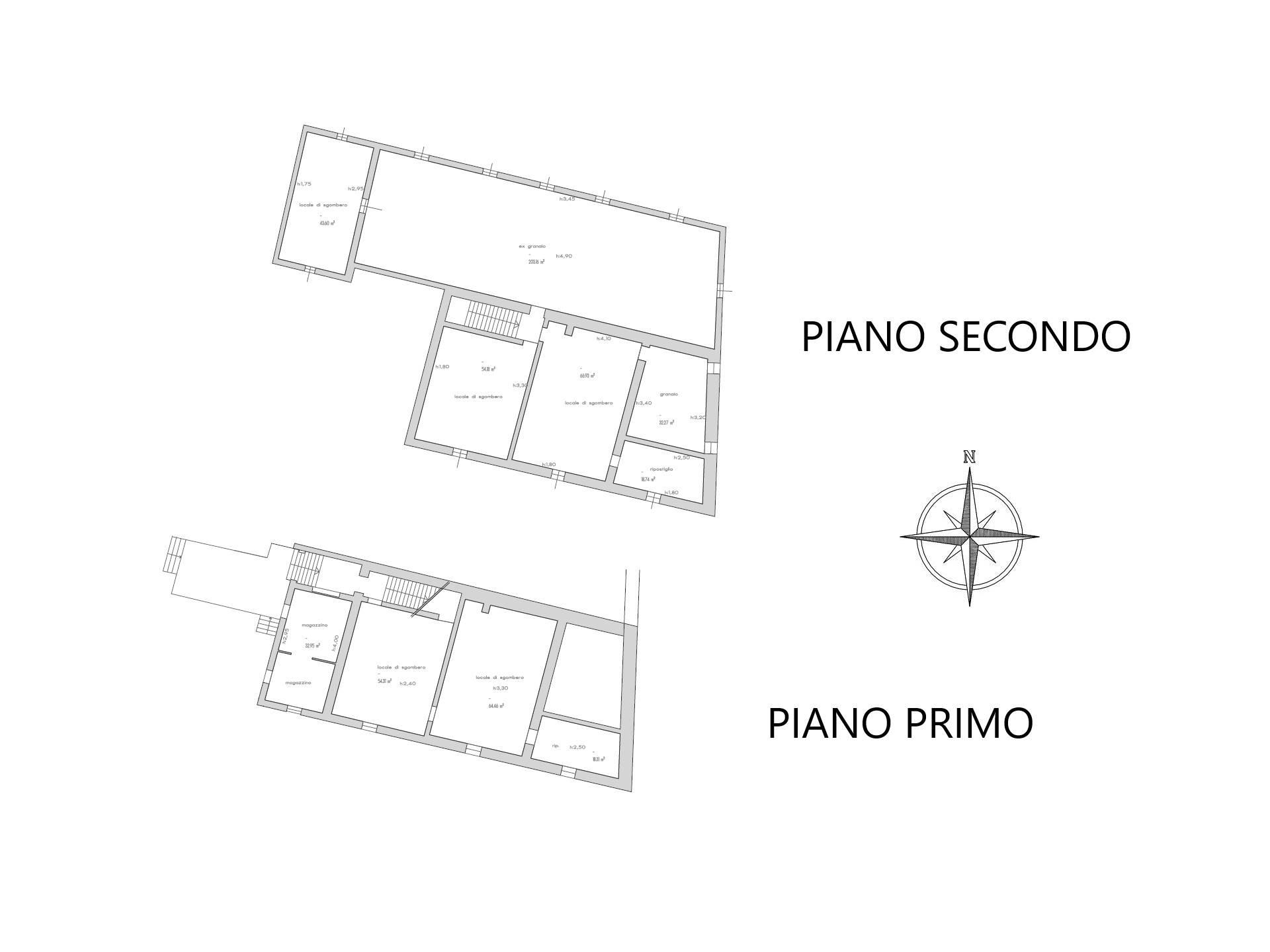 Planimetria stato attuale P1 e P2