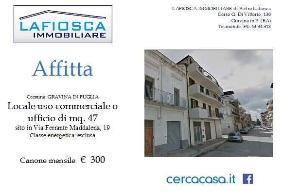 Negozio in Via Ferrante Maddalena 19, Gravina In Puglia
