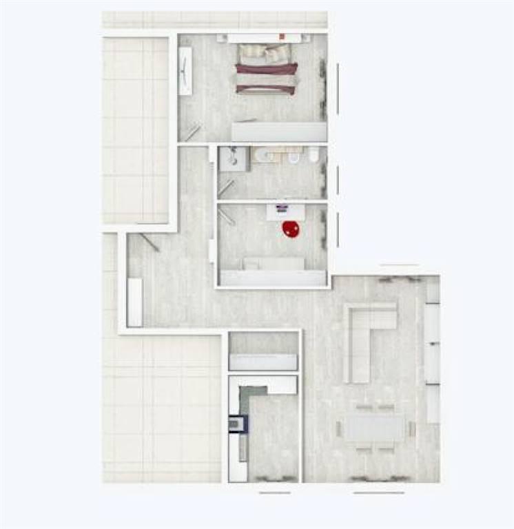 Rif. B81 BORGO SAN GIOVANNI - Appartamento di prossima ristrutturazione con vista sulla laguna del Lusenzo, posto al piano secondo con ottima