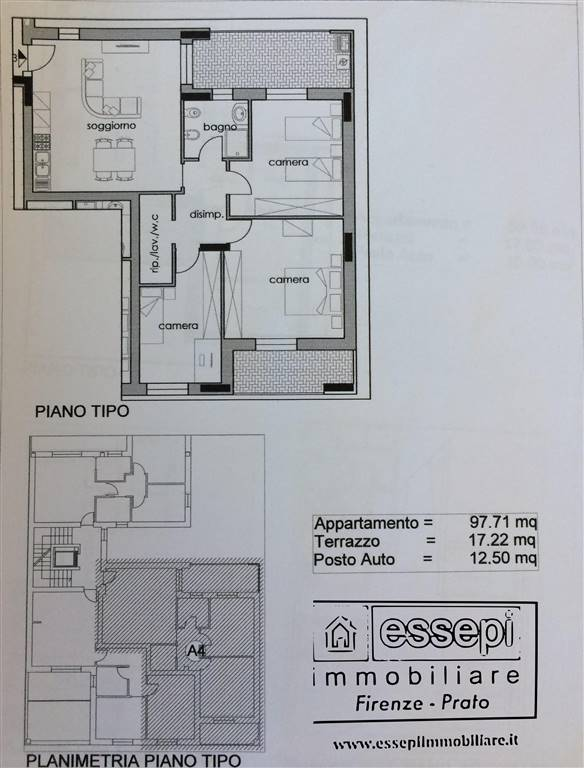New construction in PRATO 97 Sq. mt. | 4 Rooms